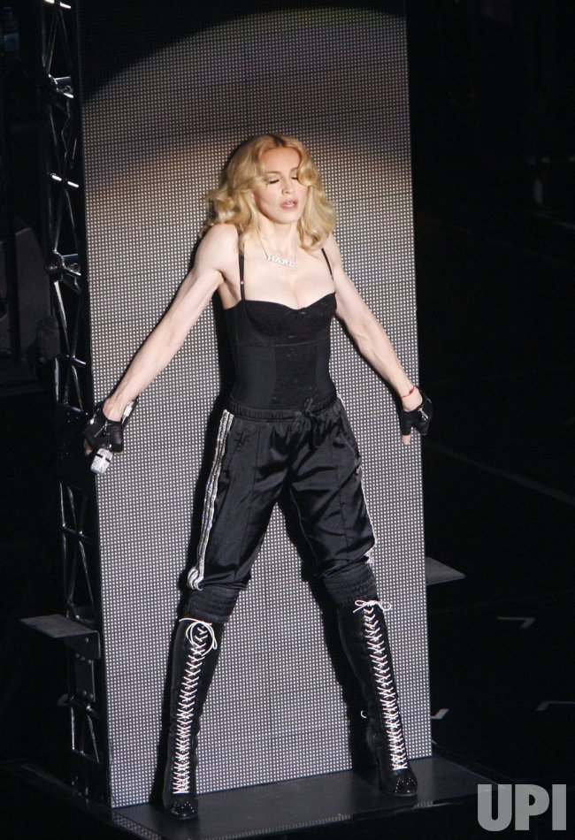 Madonna performs in concert in Paris