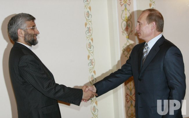 Russian President Putin meets with Iranian top nuclear negotiator Saeed Jalili in Moscow