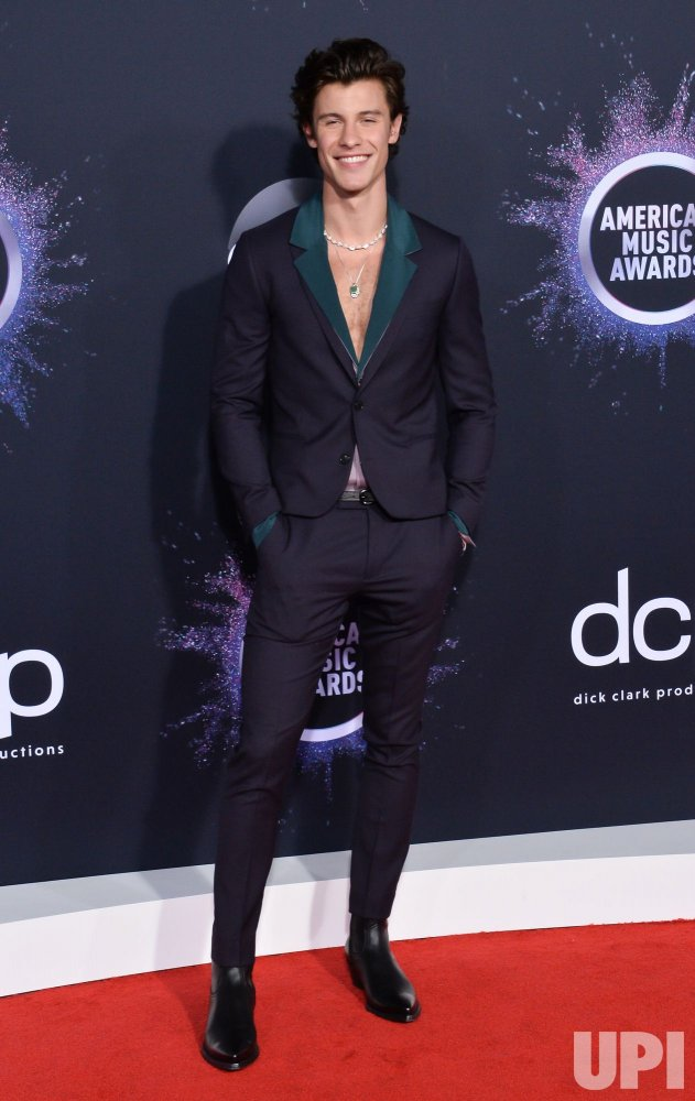 Shawn Mendes attends American Music Awards in LA