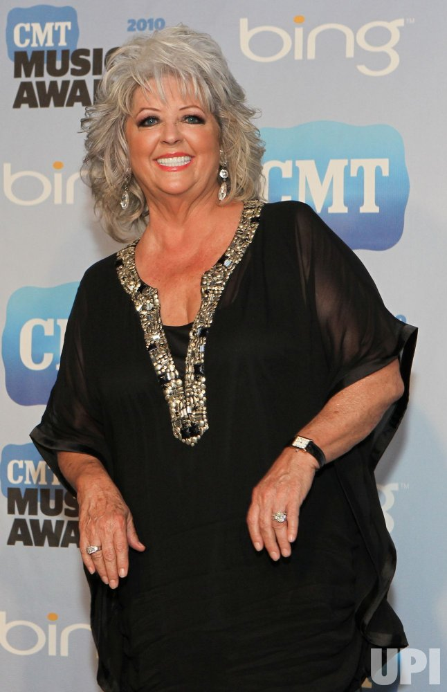 Paula Deen speaks to the press CMT Awards in Nashville
