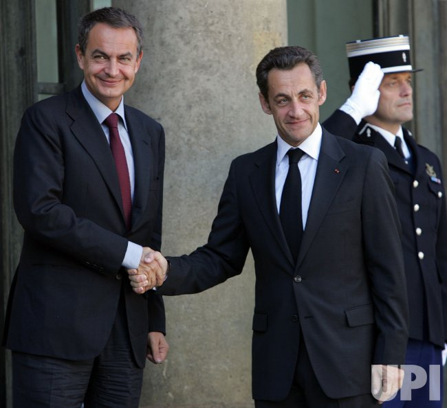 Spanish PM at the Elysee Palace in Paris