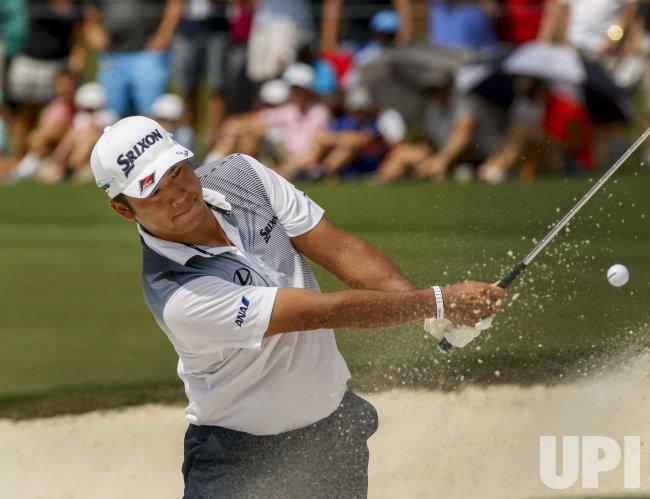 Hideki Matsuyama hits during the 2017 PGA Championship