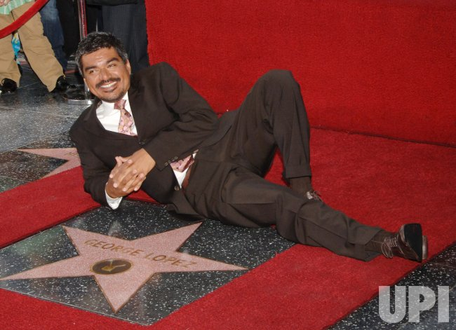 COMEDIAN GEORGE LOPEZ RECEVIVES STAR ON HOLLYWOOD WALK OF FAME