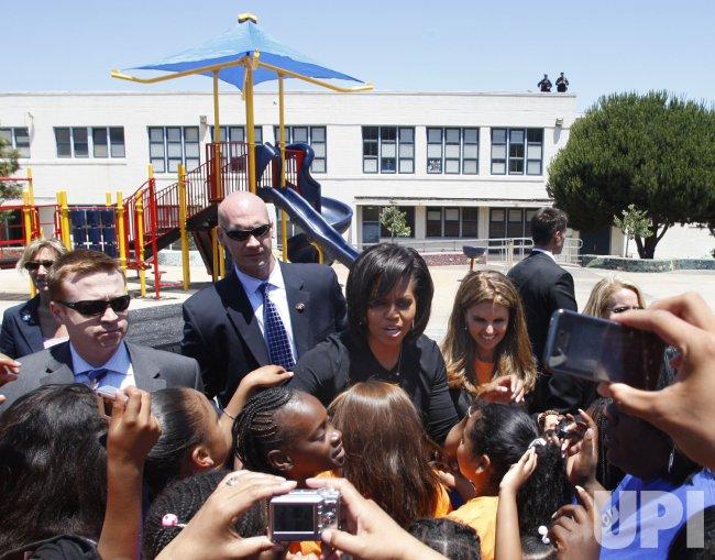 First Ladies assist volunteers in playground building in San Francisco