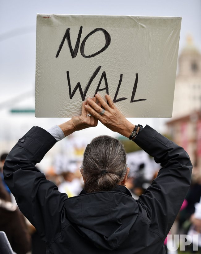 Protesters demonstrate California's opposition to attacks on civil liberties by Trump presidency