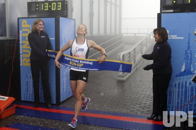 Alice McNamara of Australia leads all Women at the 33rd Annual Empire State Building Run-Up for the sixth consecutive time
