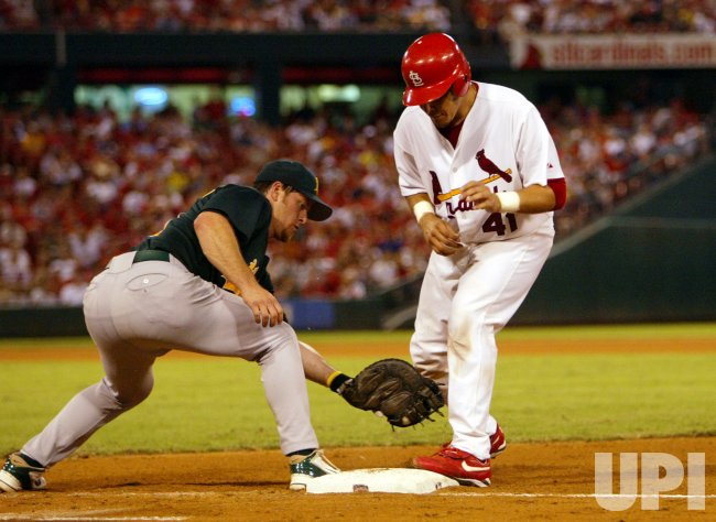 OAKLAND ATHLETICS VS ST. LOUIS CARDINALS BASEBALL