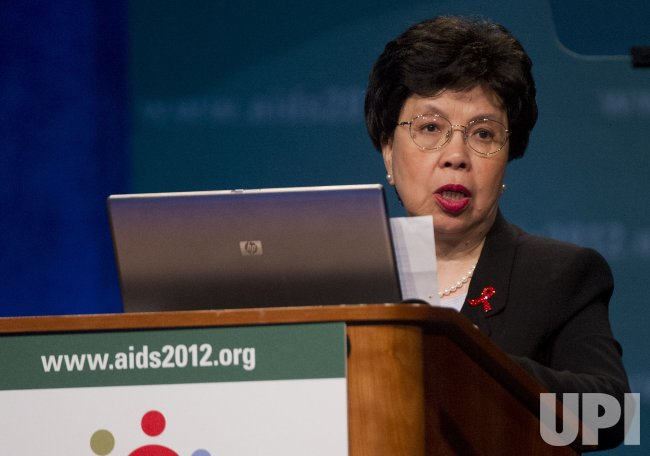 Margaret Chan, Director-General of WHO, delivers remarks during the XIX International AIDS Conference in Washington