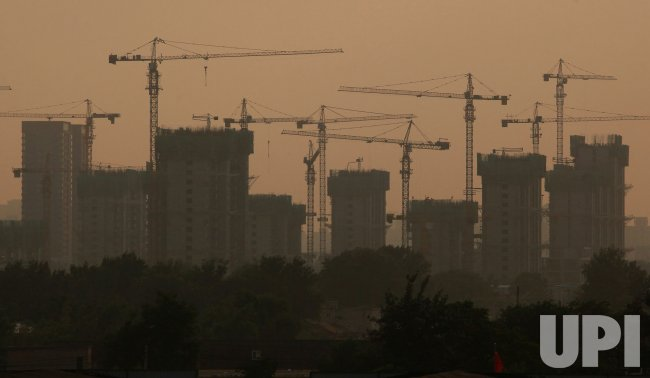 A new housing development is under construction in Beijing