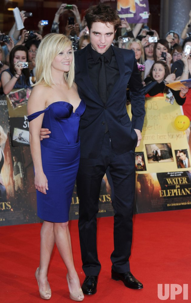 "Robert Pattinson and Reese Witherspoon attend ""Water For Elephants"" premiere in London"