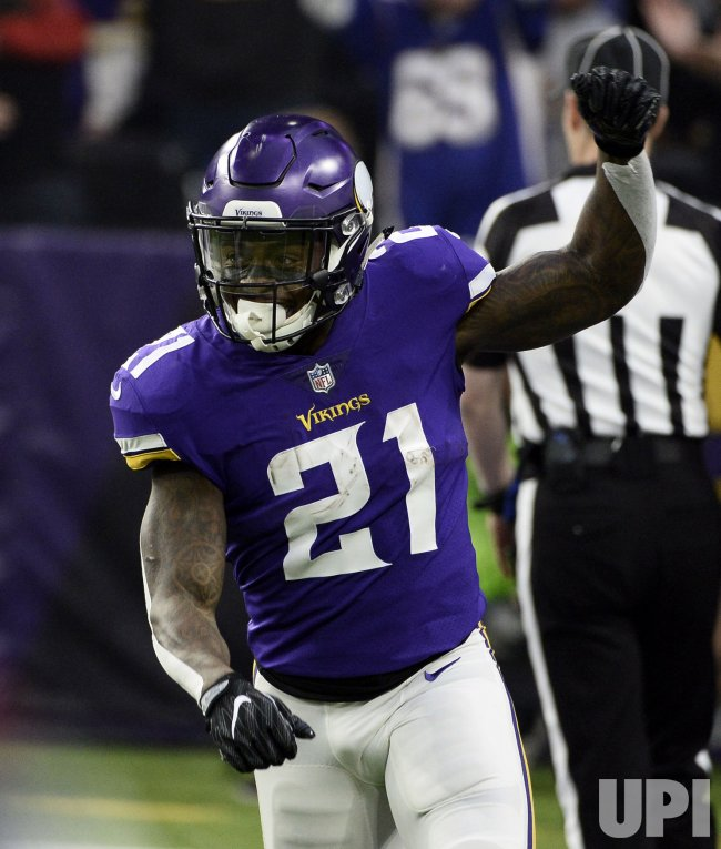 Vikings' McKinnon reacts after scoring Touchdown in the NFC Divisional playoff