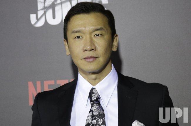 Chin Han arrives at Jessica Jones premiere