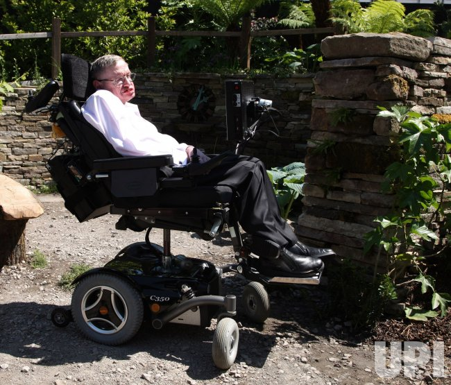 Stephen Hawking launches his garden at Chelsea Flower Show