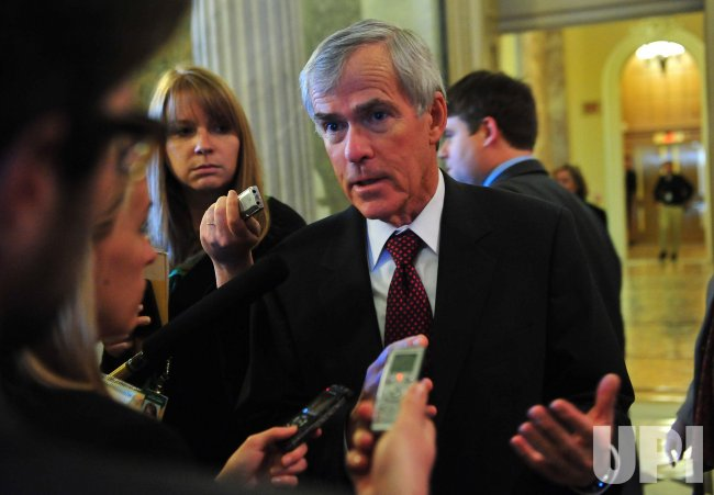 Sen. Mark Udall (D-CO) talks to the media after voting on cloture on H.R 4853 (Middle Class Tax Relief Act of 2010) in Washington