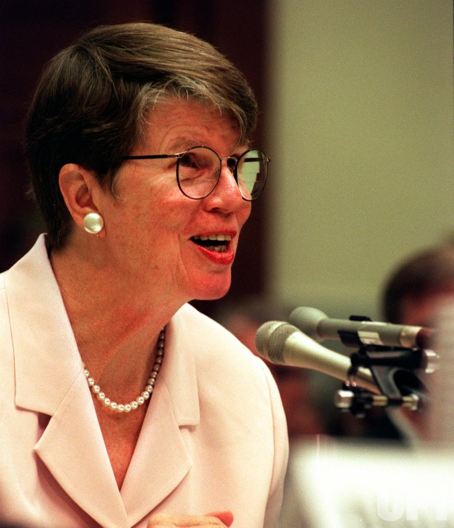 Janet Reno testifies on the Hill