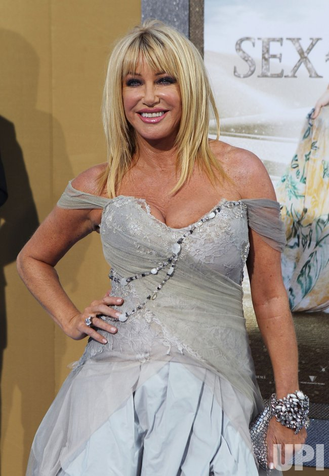 """Suzanne Somers arrives at the """"Sex And The City 2"""" premiere at Radio City Music Hall in New York"""