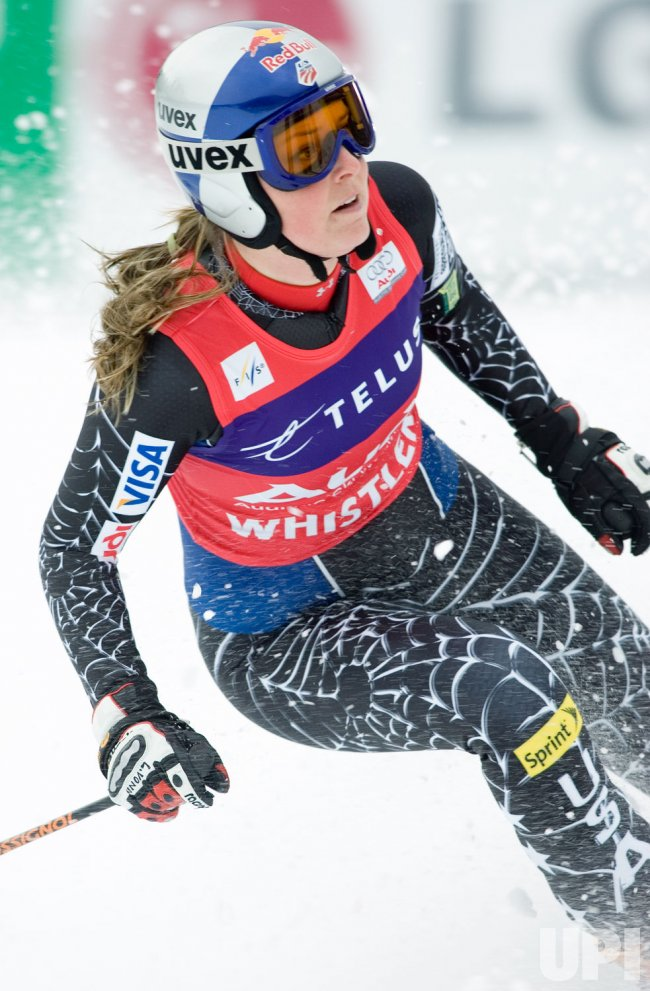 The Telus Women's Downhill of FIS World Cup Skiing at Whistler
