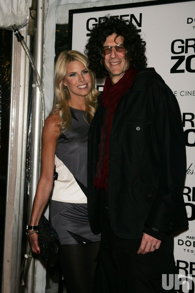 """Howard Stern and wife Beth Ostrosky arrive for the premiere of """"Green Zone"""" in New York"""