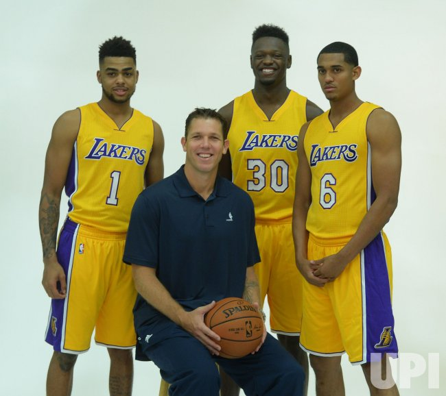 D'Angelo Russell Julius Randle, Jordan Clarkson and Luke Walton participate in Lakers' media day