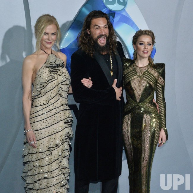 "Nicole Kidman, Jason Momoa And Amber Heard Attend ""Aquaman"