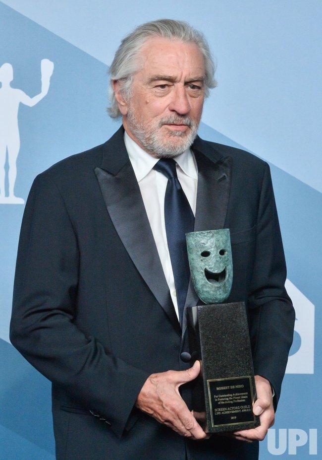 Robert De Niro wins award at the 26th annual SAG Awards in Los Angeles
