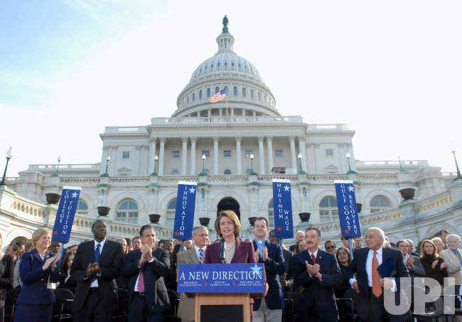Democrats highlight accomplishments during news conference on Capitol Hill