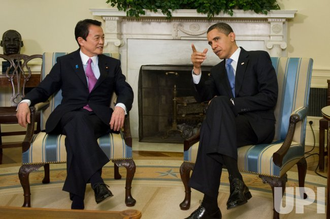 U.S. President Obama meets with Japanese Prime Minister in Washington