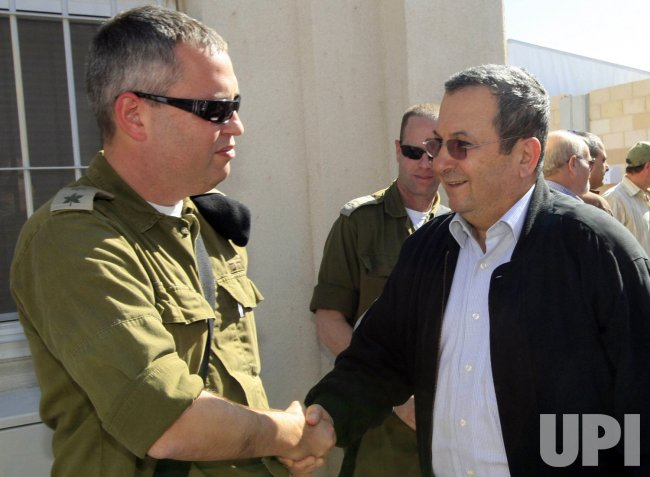 Israeli Defense Minister Ehud Barak visits West Bank
