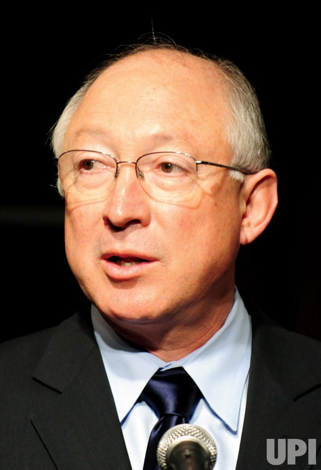 Interior Secretary Ken Salazar speaks at Ford's Theater in Washington