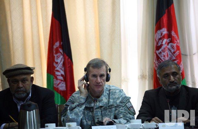 Gen. McChrystal addresses Afghan Parliament on troop buildup in Kabul