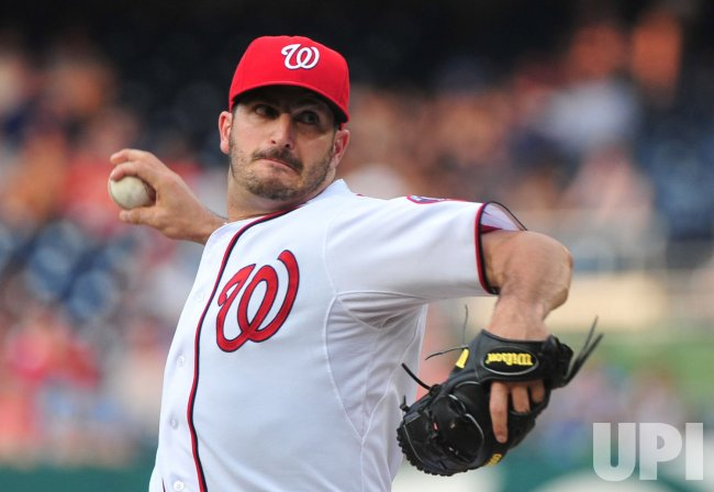 Washington Nationals' pitcher Jason Marquis pitches in Washington