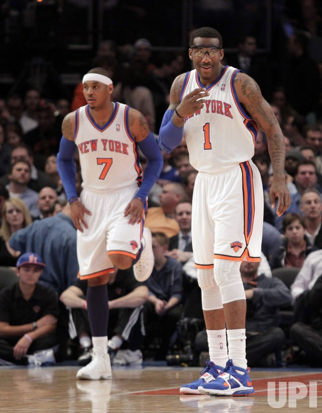 New York Knicks Carmelo Anthony and Amar'e Stoudemire at Madison Square Garden in New York