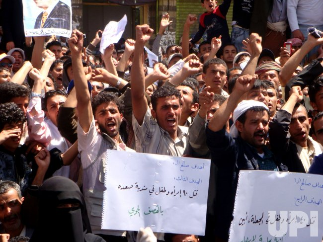 Demonstration Calling for Ouster of President Ali Abdullah Saleh in Yemen