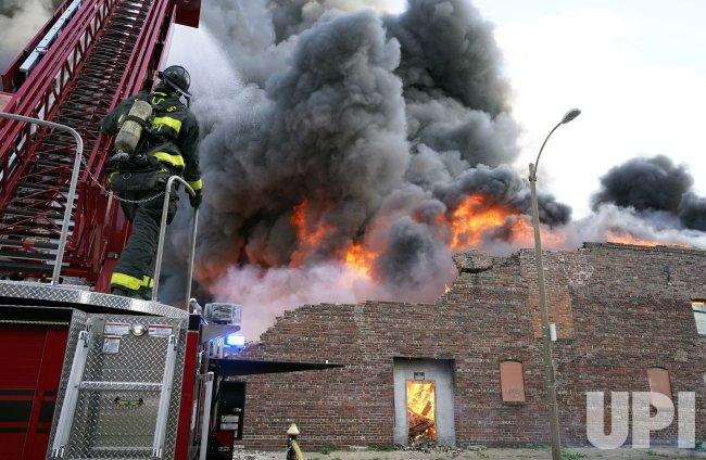 Three Alarm Fire Destroys Warehouse