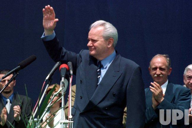 Yugoslav President Slobodan Milosevic