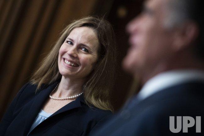 Judge Amy Coney Barrett Meets with Senators on Capitol Hill