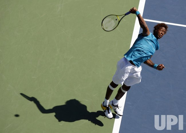 Jeremy Chardy plays Gael Monfils on Day 3 at the US Open Tennis Championships in New York