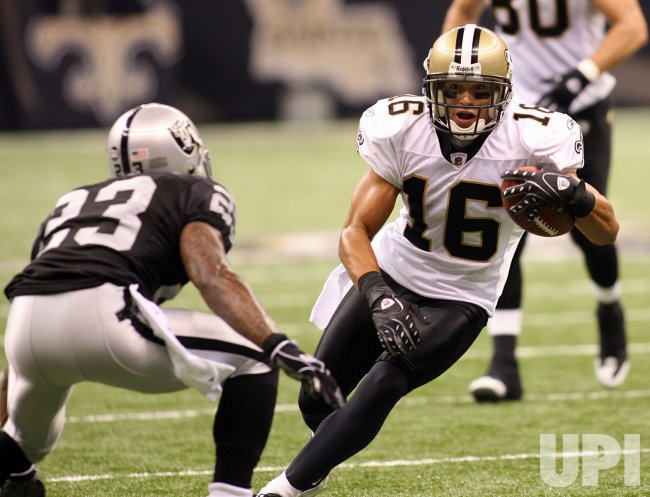 NFL Football New Orleans Saints vs Oakland Raiders at the Louisiana Superdome