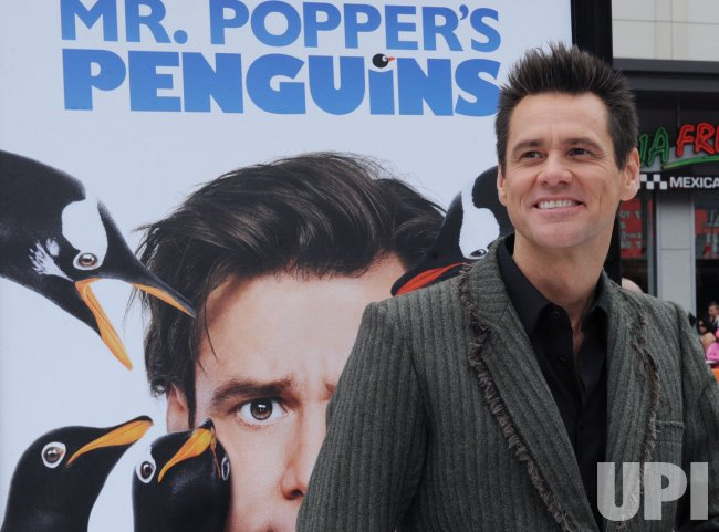 "Jim Carrey attends the premiere of ""Mr. Popper's Penguins"" in Los Angeles"