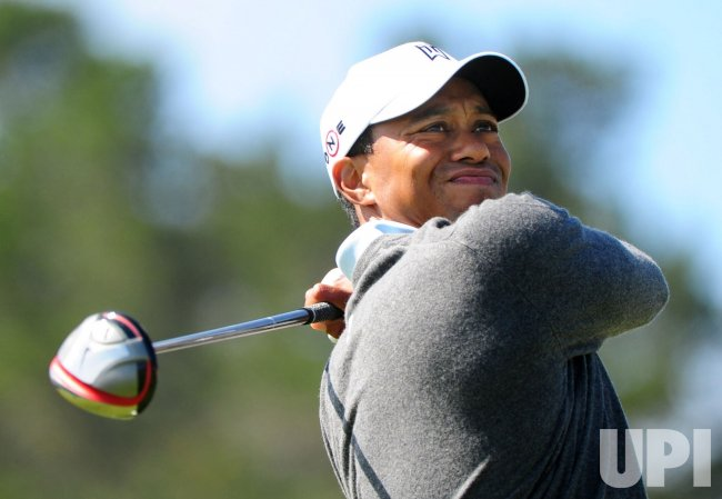 Tiger Woods on the 10th tee box during the U.S. Open in Pebble Beach, California