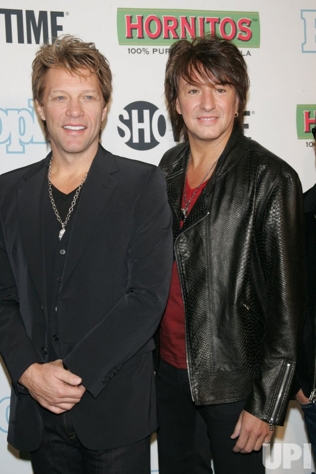 "Jon Bon Jovi and Richie Sambora arrive for the ""Bon Jovi: When We Were Beautiful"" Premiere in New York"