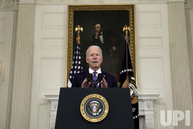 Joe Biden Makes Remarks on A Good Jobs Report