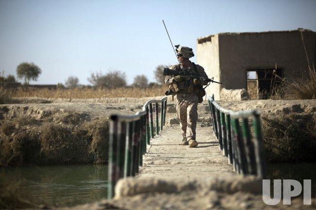 Marines patrol in Helmand Province, Afghanistan