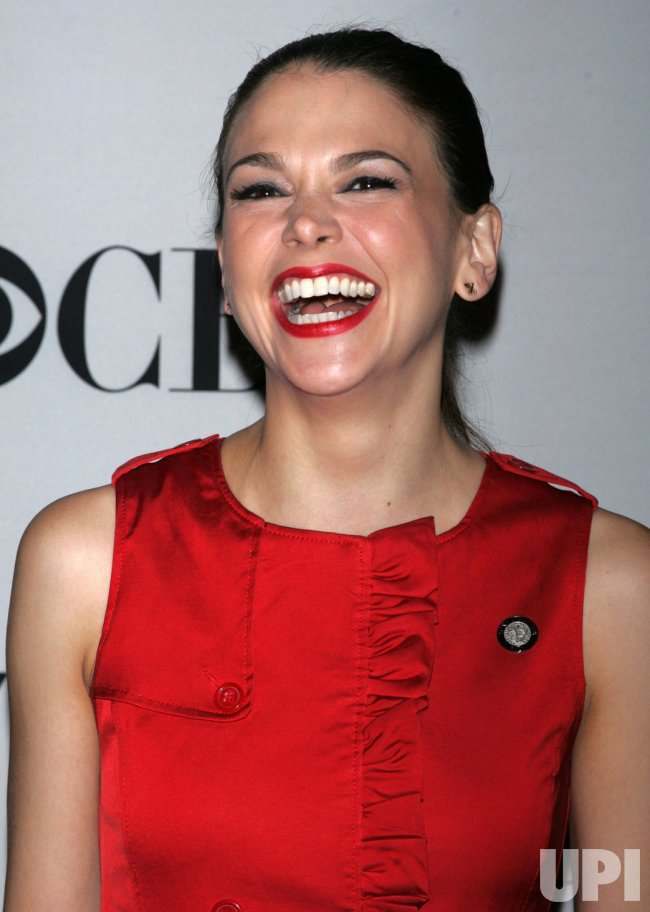 Sutton Foster arrives at the 2011 Tony Awards Meet the Nominees Press Reception in New York
