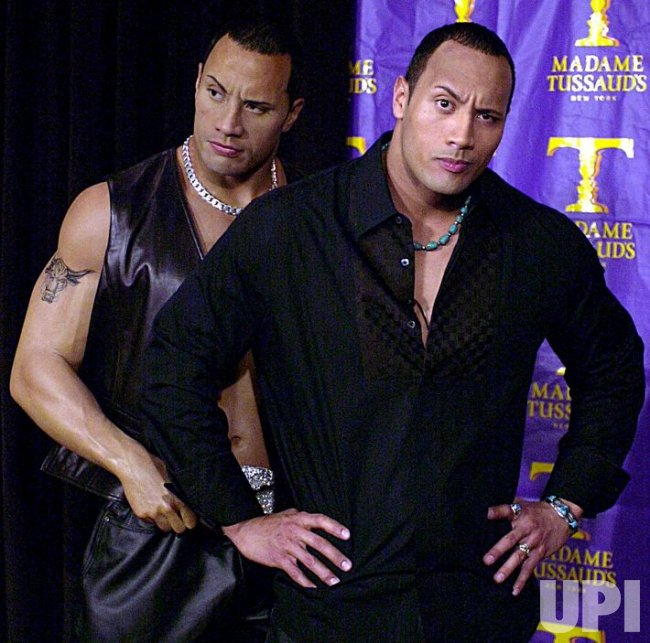 """WWF star """"The Rock"""" wax image unveiled at Madame Tussaud's"""