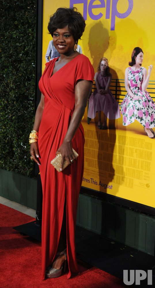 "Viola Davis attends the premiere of ""The Help"" in Beverly Hills, California"