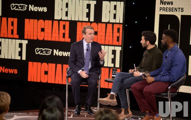 Democratic candidate Michael Bennet attends Brown & Black Presidential Forum in Iowa