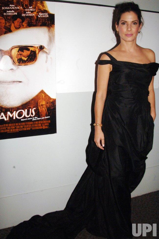 "SANDRA BULLOCK PREMIERES IN NEW FILM ""INFAMOUS"""