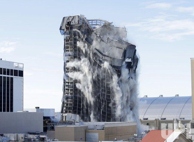The Trump Plaza casino is Demolished in Atlantic City