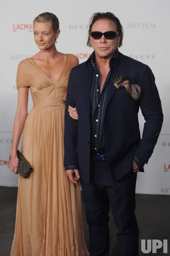 Mickey Rourke And Anastassija Makarenko Attends The Lacma Art Film Gala In Los Angeles Upi Com In 2014 the internet was flooding with the news of anastassija makarenko falling madly in love with mickey rourke. lacma art film gala